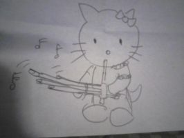 Hello Kitty Playing the Qeej by LegendaryDragon90
