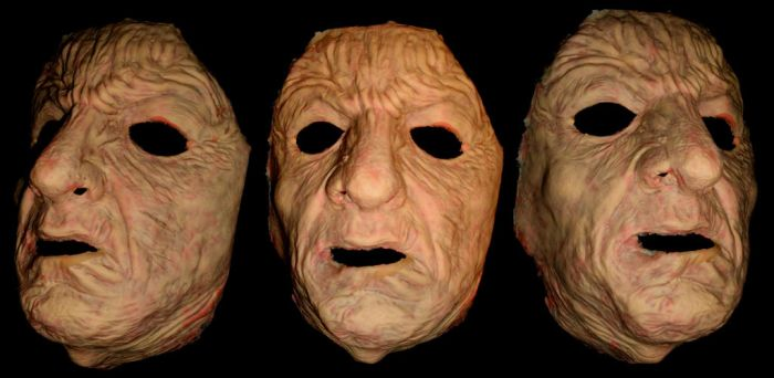 Creepy Old Man Latex Halloween Face Mask by Blakefx