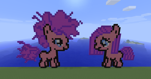 Filly pinkie pie in minecraft by Dutchcrafter