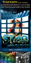Star Party Flyer Template by survivorcz