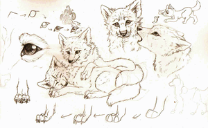 .:Ramdom Sketch Page:. by WaywardLycan