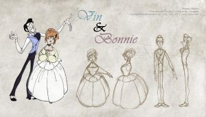 Vin and Bonnie Model Sheet by katseartist