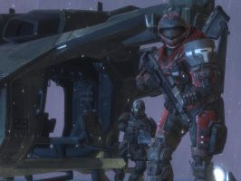 Halo Reach: in the storm by purpledragon104