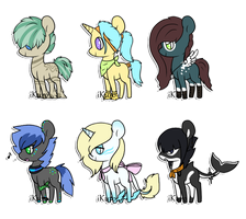 Tiny Pony Collab Adopts: SOLD OUT by Kuro-Creations