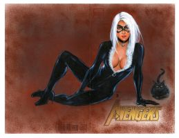 Black Cat Spiderman cover 3 by Melanarus