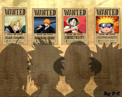 Ed-Ichi-Luffy-Naru Wanted by cec1705