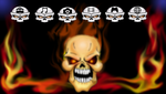 psp theme flamin skull by chrisfurguson