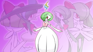 Ralts, Kirlia, Gallade, Gardevoir + Mega Wallpaper by Glench