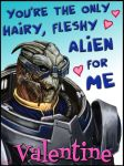 Mass Effect Valentine - Alien Love by efleck