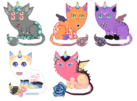 Leftover Unicats(*Closed*) by xavs-pixels