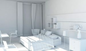 room's white render by aXel-Redfield