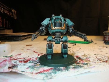 Sons of Horus - Contemptor Dreadnought (WIP) by Quiet-Lamp