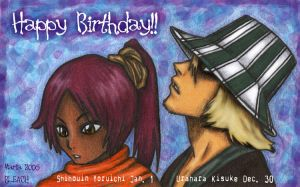 Urahara Yoruichi Bdays by mariapalitos68