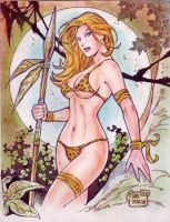 Jungle Girl (#10) by Rodel Martin by VMIFerrari