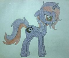 MLP OC Pony Midnight Gloom by Lady-Sofia