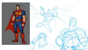 Superman Sketches by Drbuffalo