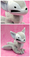 Kistune Plush - Light Silver by FollyLolly