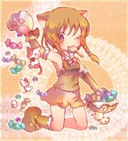 The candy rains. by koroneri