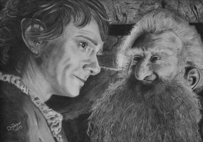 Bilbo and Balin by DJPrior