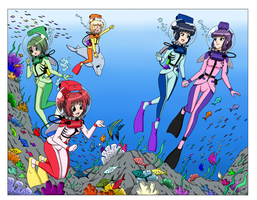 Tokyo LAMA Mew Mew Divers - 200th Color Commission by The-Sakura-Samurai