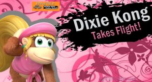 VOTE Dixie Kong for SSB4 DLC by Elemental-Aura