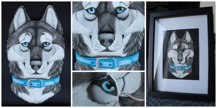 Commissions: 3D - Portrait - NightWolf-_- by SaQe