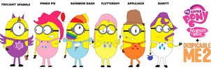 My Little Pony - Mane 6 as Minions by Ghostbustersmaniac