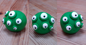 Bug Eyes Fimo by moopf
