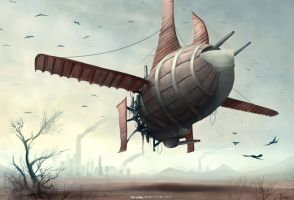 Airship by MikeCoombsArt