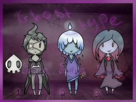 Pokejinkas Adopts: Ghost-Type [Closed] by CorruptedWaffles