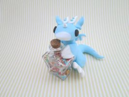 Blue Sweet Tooth Dragon by KriannaCrafts