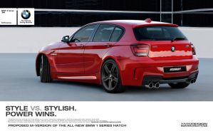 BMW 1 series hatch M-kit proposal_rear by yasiddesign