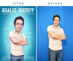 Khalid Sheriff Poster Before And After by Hamdan-Graphics