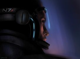 ME2: Shepard speed art by Spiritius