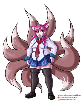 COMMISSION - Academy Ahri Weight Gain1 of 4 by ProfessorDoctorC