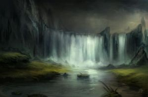the waterfall by YoBarte