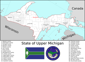 Map of the State of Upper Michigan by Coliop-Kolchovo