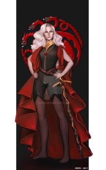 Commission: Daena Targaryen by Enife