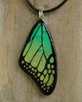 Yellow Green Glass Wing by FusedElegance