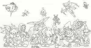 Sonic Crew Lineart by ILoveAmyRose