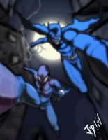Bat and a spider by JoeMDavis