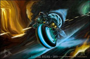 Biker from extreme racing by Nikt2