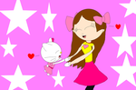 Melody admires Hello Kitty since childhood by NyanSonia