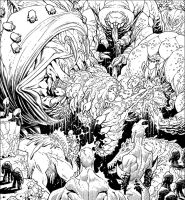 Creatures Panel from INVINCIBLE 107 by RyanOttley