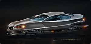 Superconductor maglev coupe by technogene