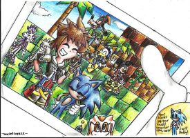 sonic and sora smile ^///^ by sonicandsora25
