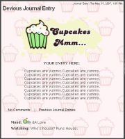 Mmm Cupcakes Free Journal by chat-noir