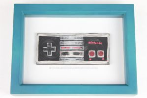 Paper Quilling - NES Controller (2) by wholedwarf