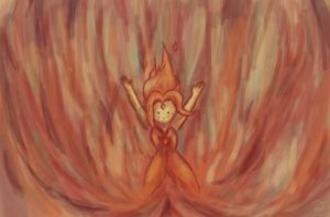 Speed paint: Flame Princess by QuintessantRiver