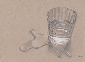 A glass of water by ihni